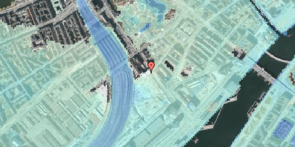 Stomflod og havvand på Bernstorffsgade 32, 1577 København V