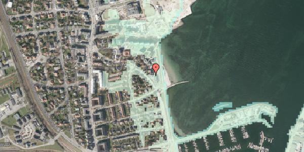 Stomflod og havvand på Strandpromenaden 47, 2100 København Ø