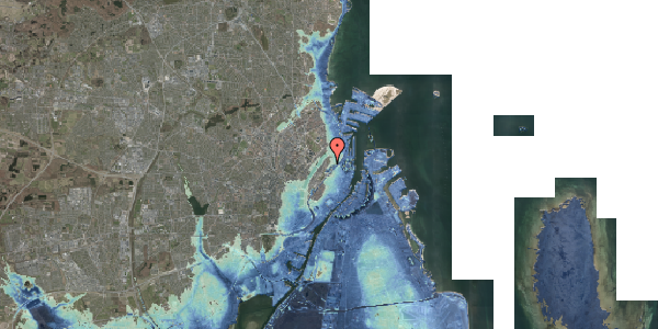 Stomflod og havvand på Upsalagade 20B, 3. tv, 2100 København Ø