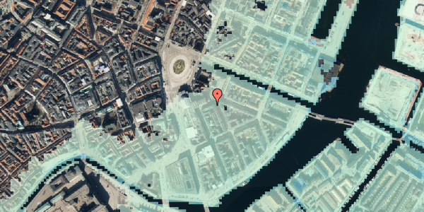 Stomflod og havvand på Heibergsgade 8, 1056 København K