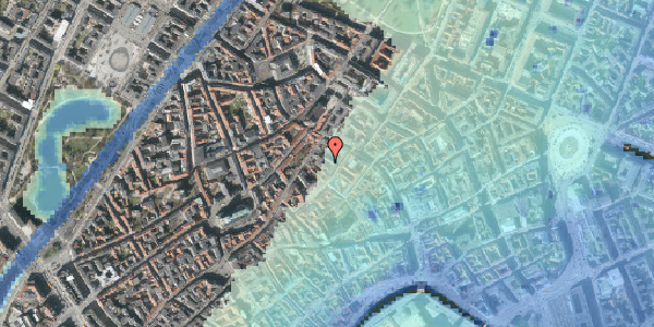 Stomflod og havvand på Løvstræde 8B, 2. th, 1152 København K