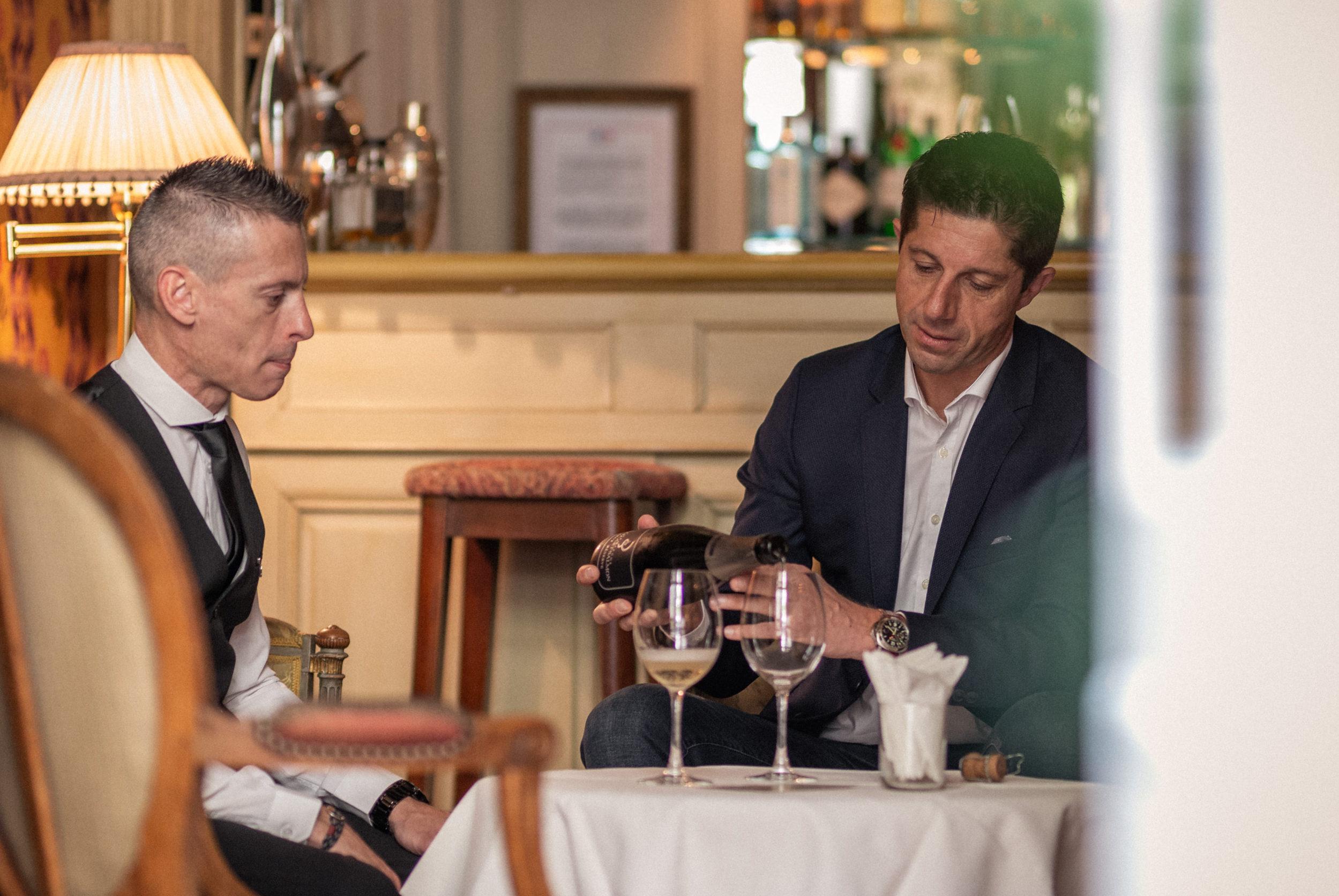 Ambiance de dégustation de champagne avec Sébastien