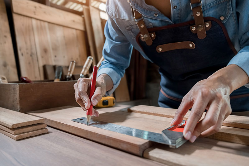 Woodworking projects for seniors at Sedgebrook Retirement Community