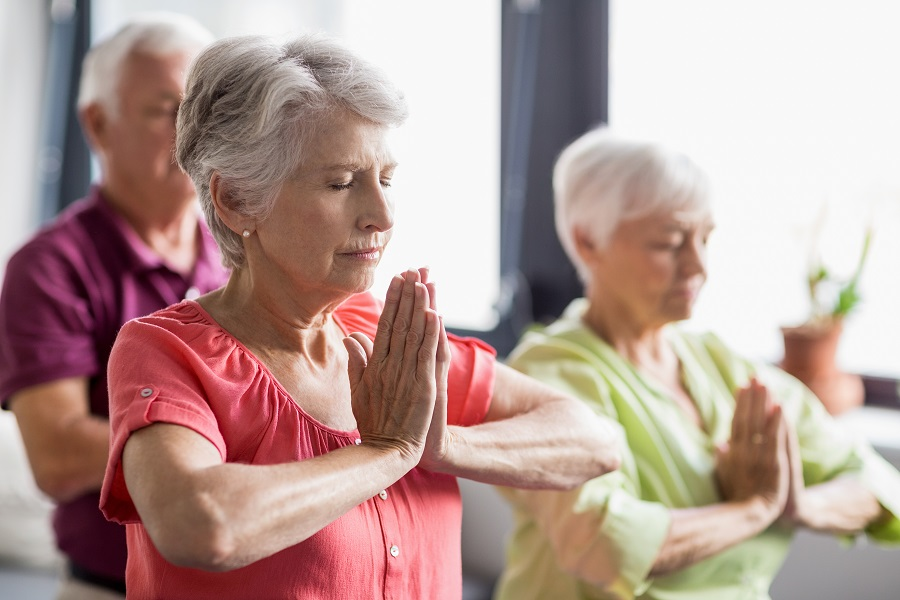 Yoga and meditation for seniors