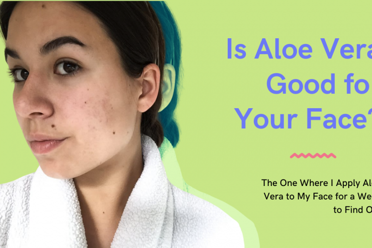 aloe vera on face