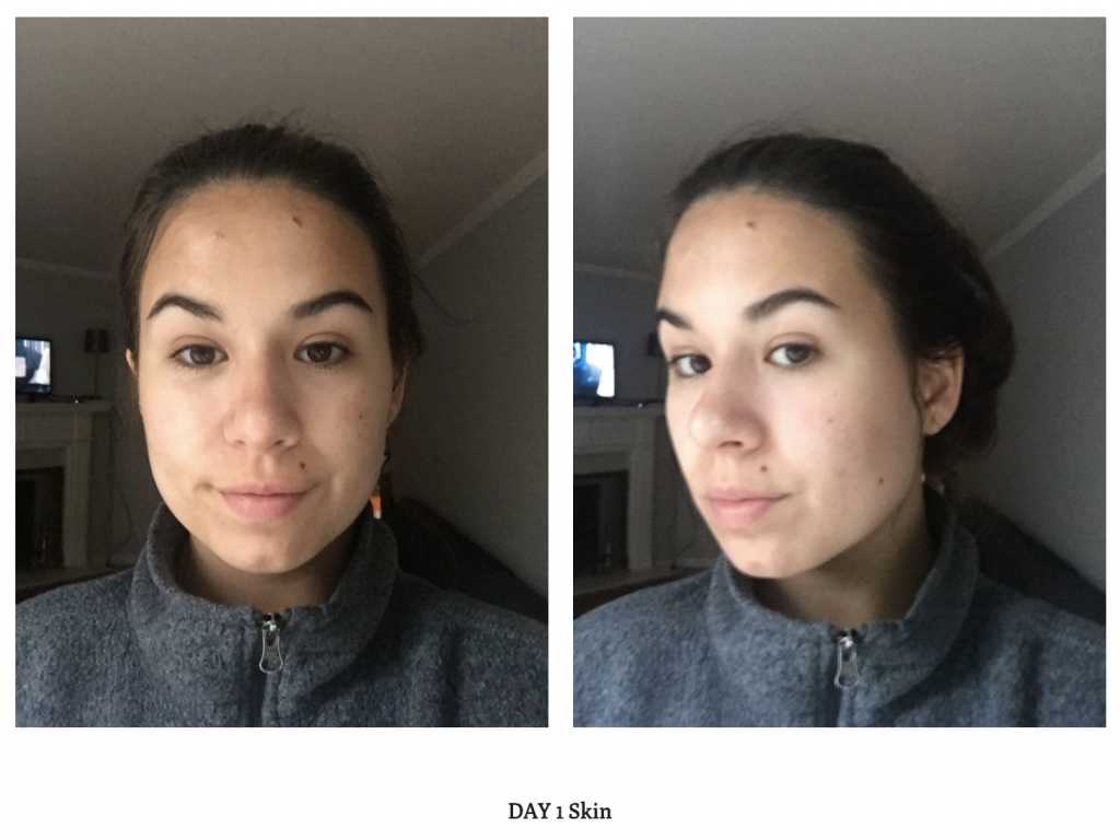 Drunk Elephant Night Serum before and after