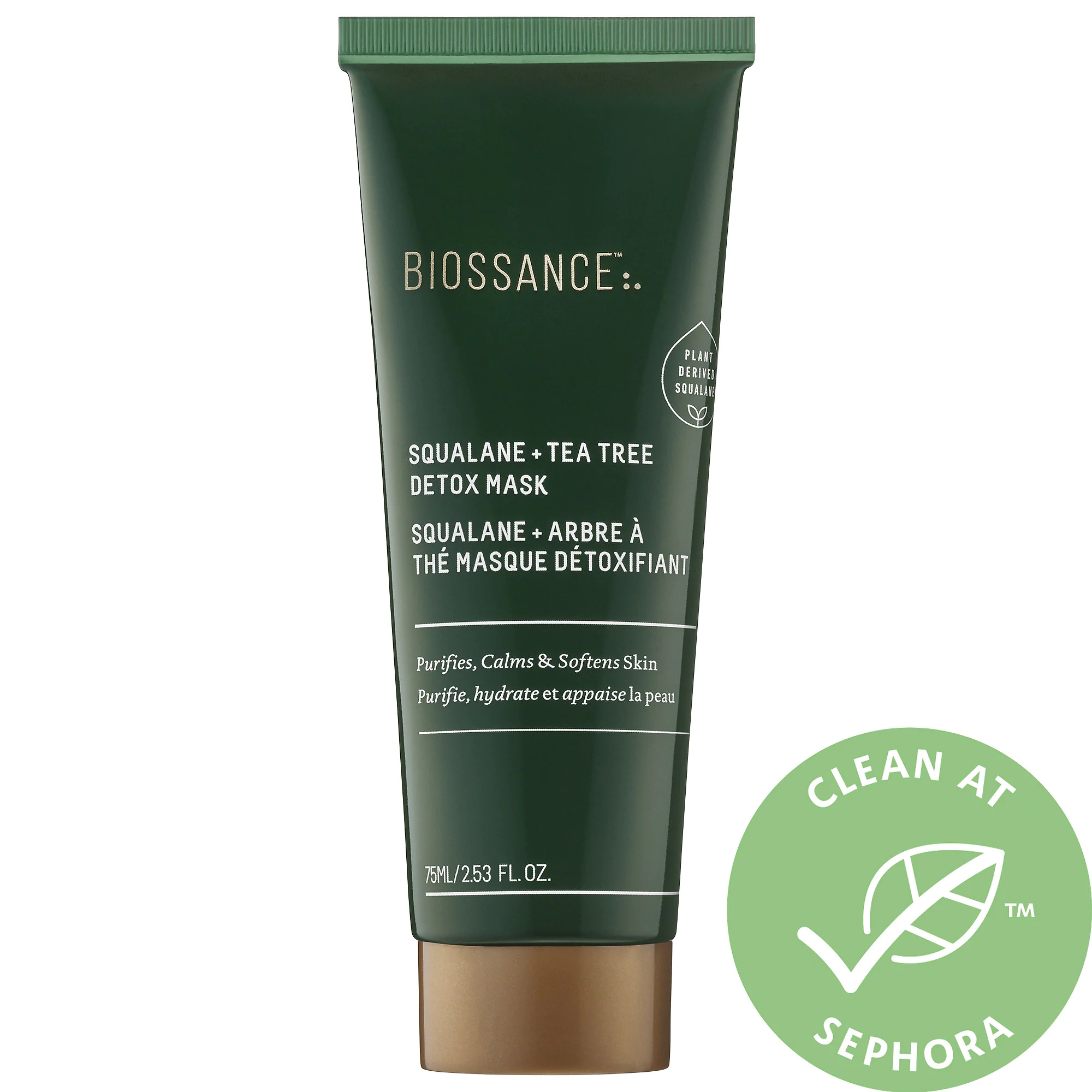 Biossance Squalane + Tea Tree Detox Mask