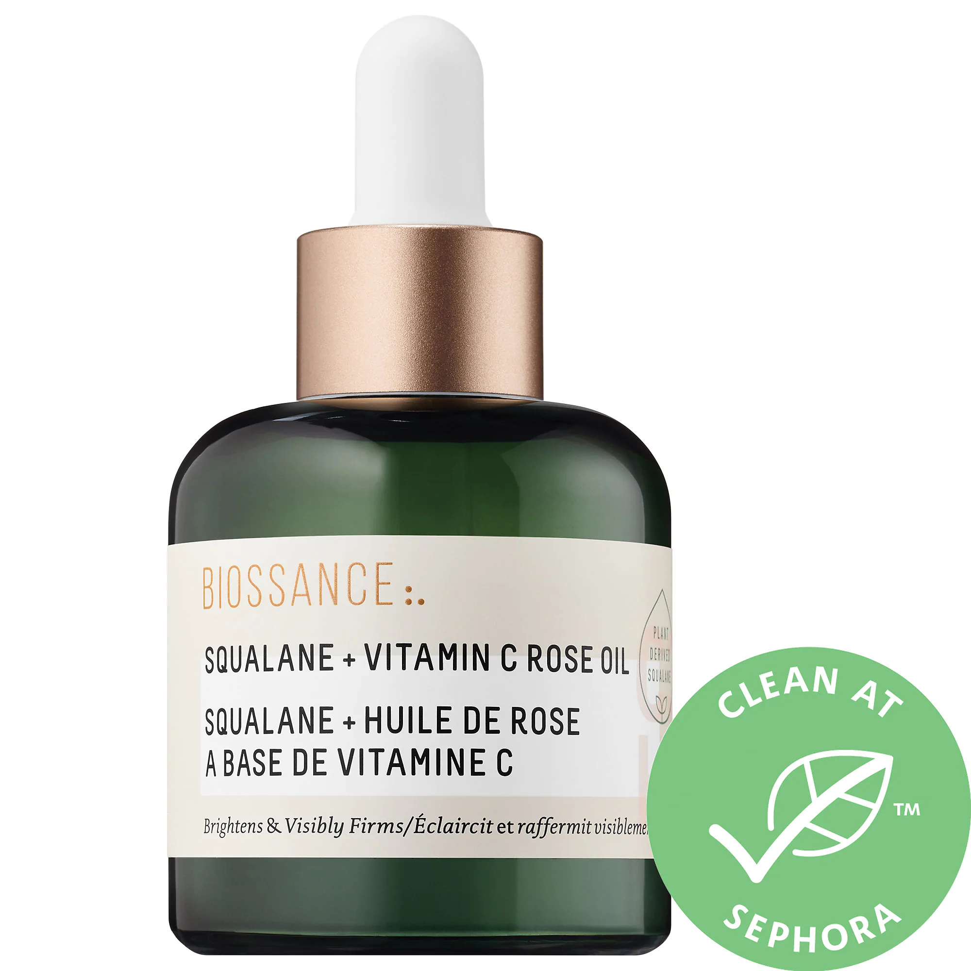 Biossance-Squalane + Vitamin C Rose Oil