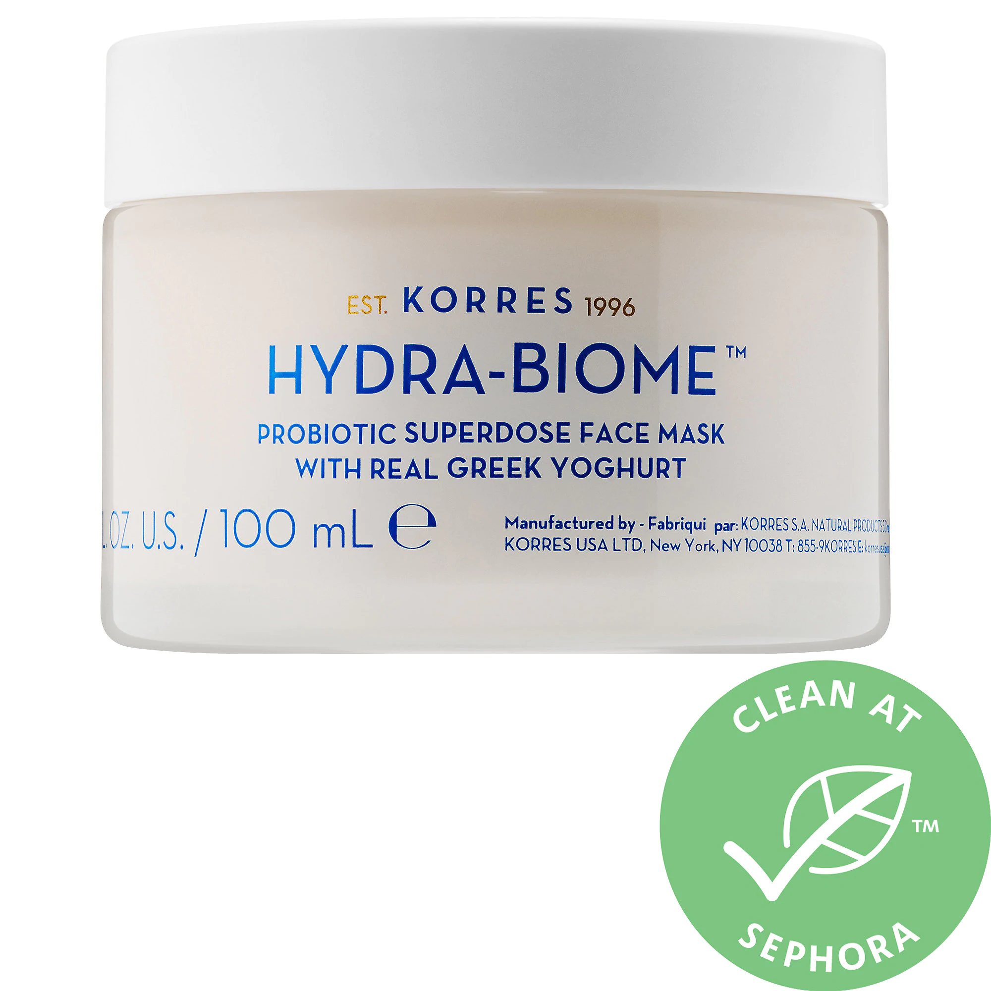 KORRES Hydra Biome Probiotic Superdose Face Mask With Real Greek Yoghurt
