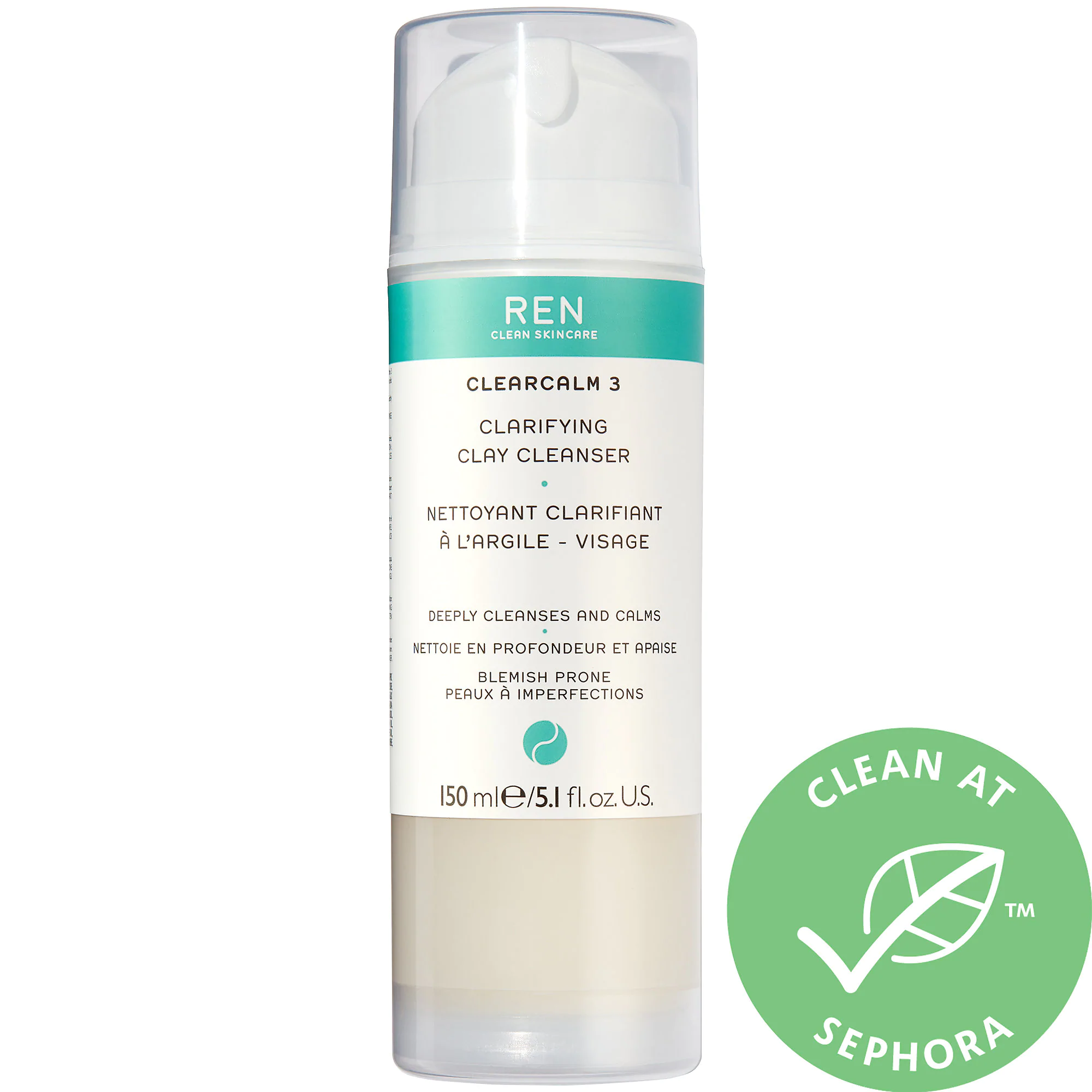 REN Clean Skincare Clearcalm 3 Clarifying Clay Cleanser