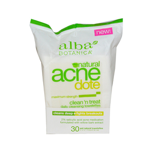 Alba Botanica Acne Dote Daily Cleansing Towelettes Oil Free