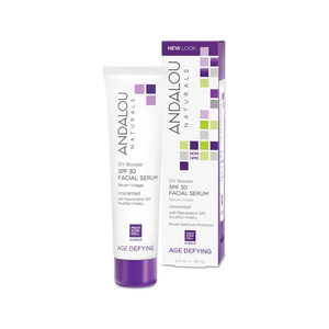 Andalou Naturals Diy Booster Spf 30 Facial Serum Unscented With Resveratrol Q10 Youthful Vitality