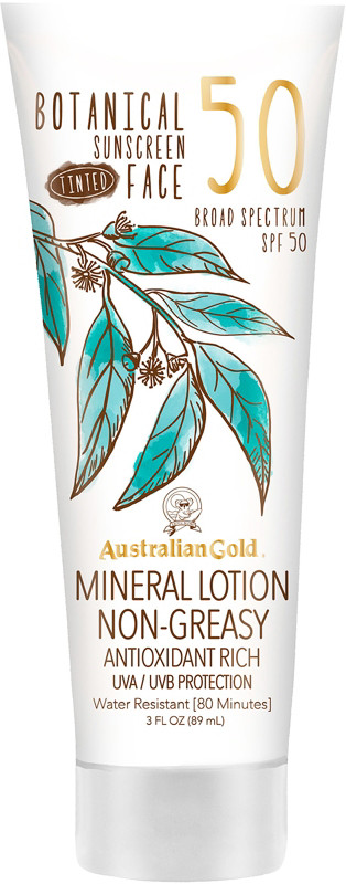 Australian Gold Botanical Tinted Face Sunscreen Spf 50