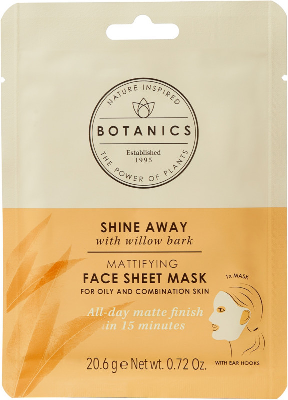 Botanics Shine Away Mattifying Sheet Mask
