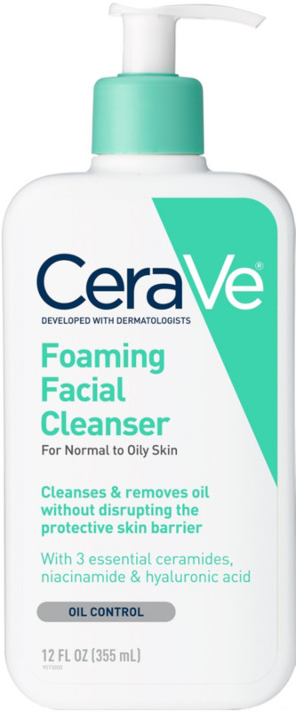 Cerave-Foaming Facial Cleanser For Normal To Oily Skin