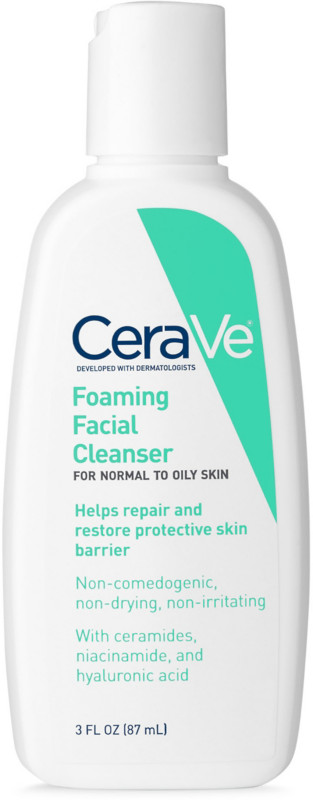 CeraVe Travel Size Foaming Face Cleanser For Normal To Oily Skin