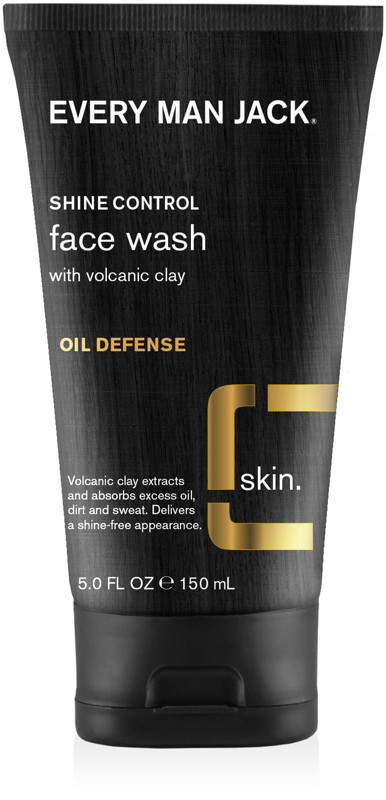 Every Man Jack Online Only Shine Control Face Wash With Volcanic Clay Oil Defense