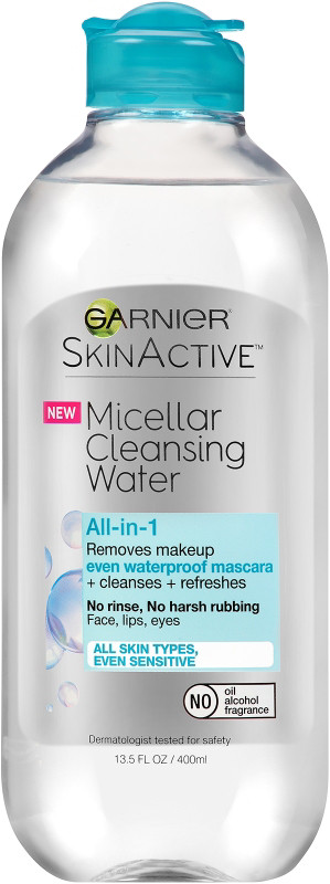 Garnier-Skinactive Micellar Cleansing Water All-In-1 Cleanser & Waterproof Makeup Remover
