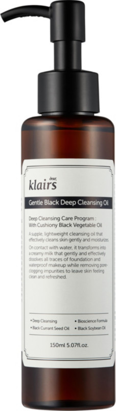 Klairs Online Only Gentle Black Deep Cleansing Oil