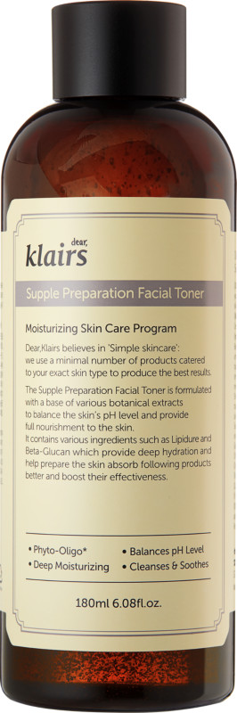 klairs-Unscented  supple preparation facial toner