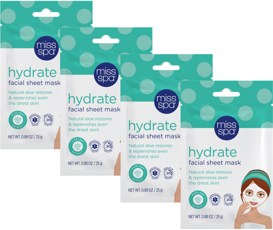 Miss Spa Online Only Hydrate Facial Sheet Mask Set