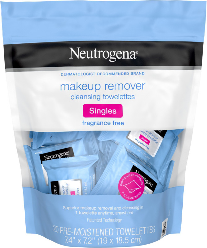Neutrogena Fragrance Free Makeup Remover Cleansing Towelettes Singles