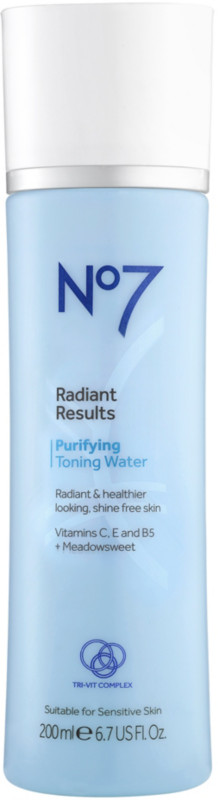 No7 Radiant Results Purifying Toning Water