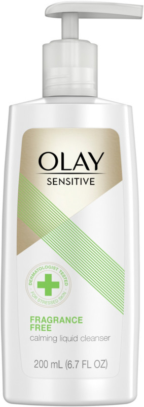 Olay Sensitive Calming Liquid Fragrance Free Facial Cleanser