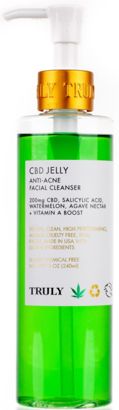 Truly Cbd Jelly Anti Acne Facial Cleanser