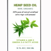 Hemp Seed oil-Pure 100% Cold Pressed Unrefined