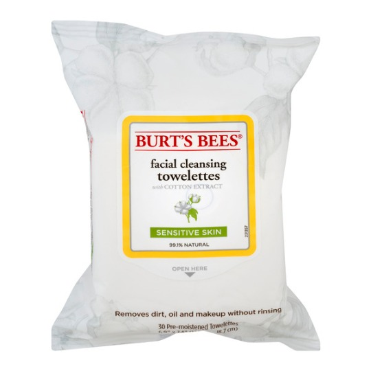 Burt's Bees-Sensitive Facial Cleansing Towelettes With Cotton Extract