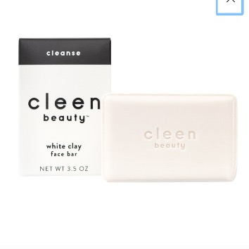 Cleen Beauty-White clay face bar