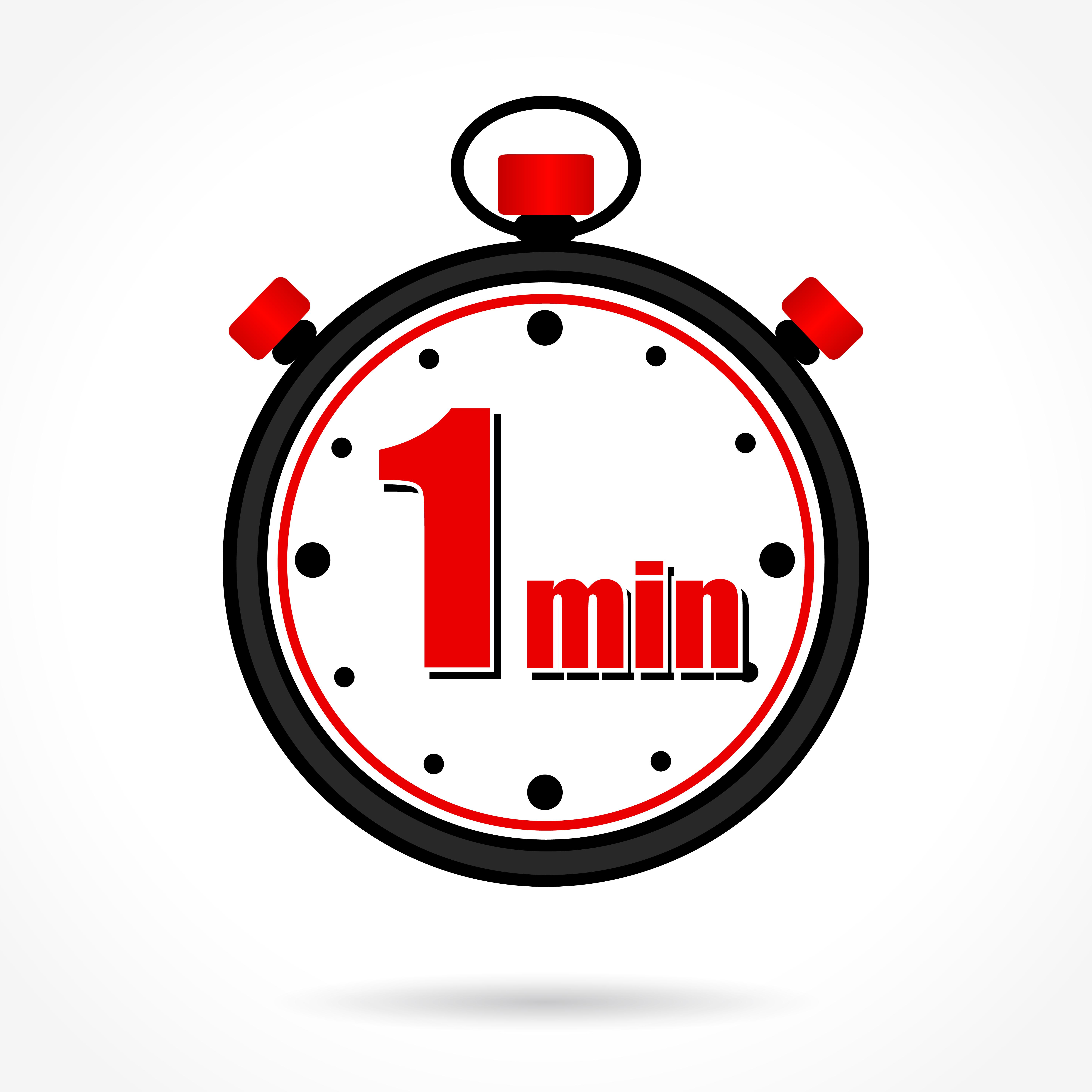 Ur viser 1 minut