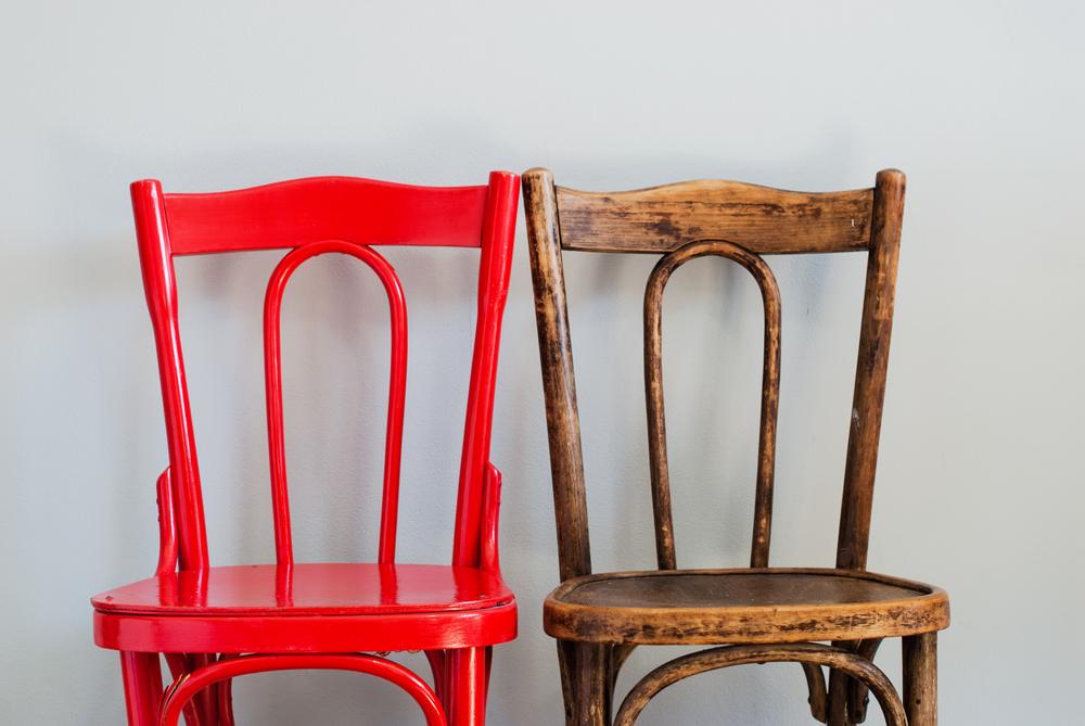 3 stole står klar til stoledans