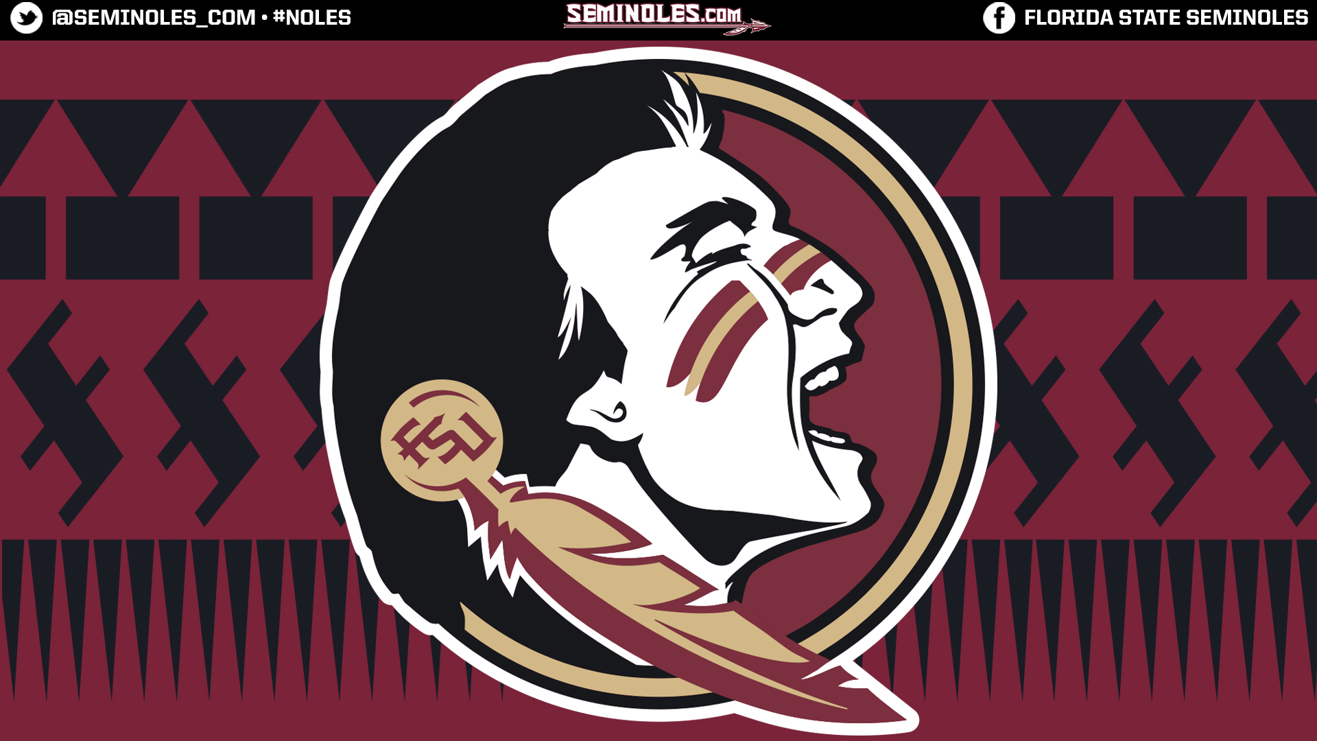 Seminoles desktop wallpapers widescreen seminole headblack pattern voltagebd Image collections