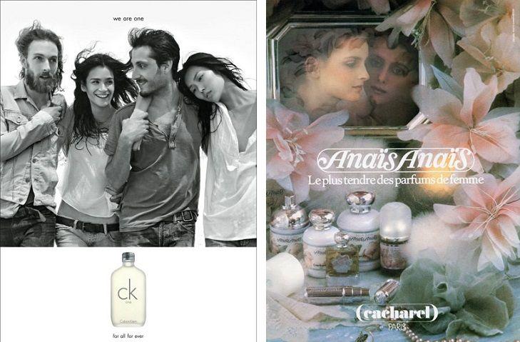 CK One - Calvin Klein, Anais Anais - Cacharel