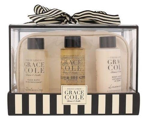 Grace Cole Fresh Linen Bath Kit