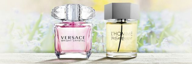 Perfumy miesiąca! Versace Bright Crystal, Yves Saint Laurent L' Homme