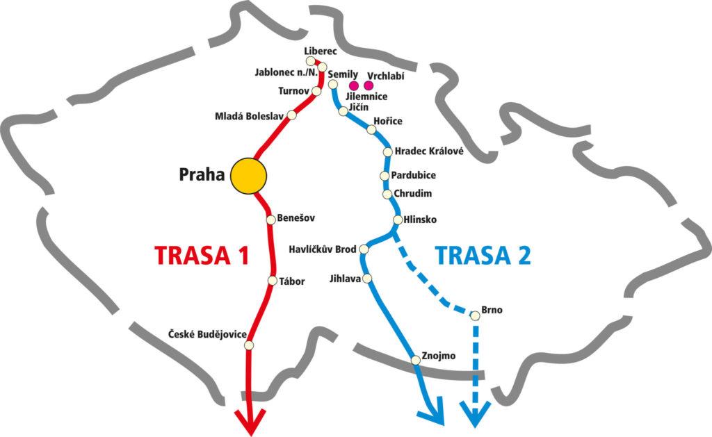 trasa autobusu CK Diana