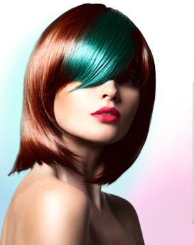 Trendy barevný účes