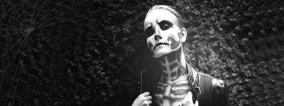 Halloweenský make-up: Kostlivec