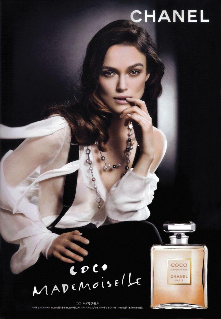 Tváří reklamní kampaně parfému Coco Mademoiselle se stala půvabná Keira Knightley (zdroj: bit.ly/1yDgjnw)
