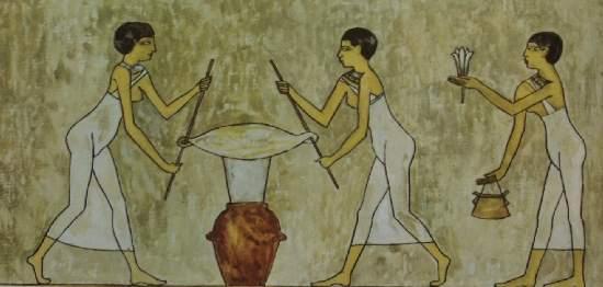 Způsob získávání vonných esencí v Egyptě