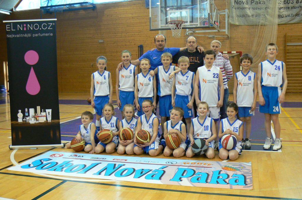 Novopacký basketbalový tým
