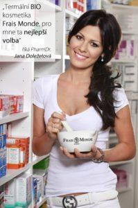 Jana Doležalová v lékárně