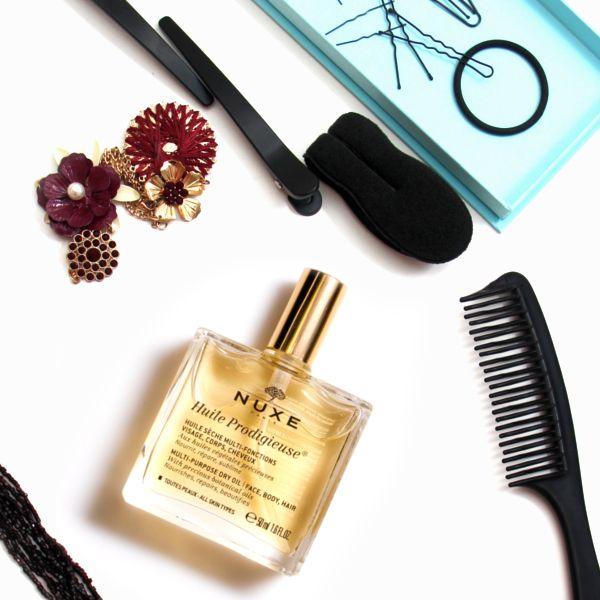 Suchý olej NUXE je vynikající i na suché vlasy