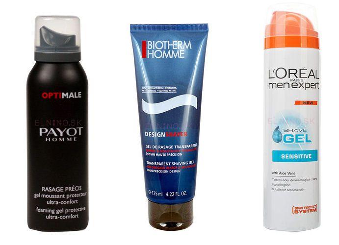 Moderní produkty na holení z řad Payot Homme Protective, Biotherm Homme Design, L´Oreal Paris Men Expert.