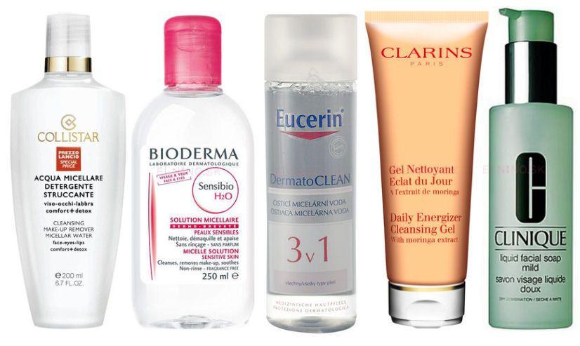 čističe a odstraňovače mejkapu od Collistar, Bioderma, Eucerin, Clains a Clinique z Elnino.sk