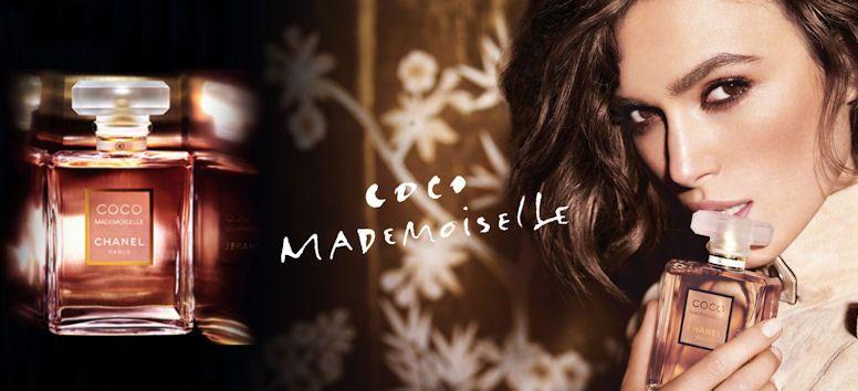dámsky parfum Chanel Coco Mademoiselle z ponuky Elnino.sk a Keira Knightley,