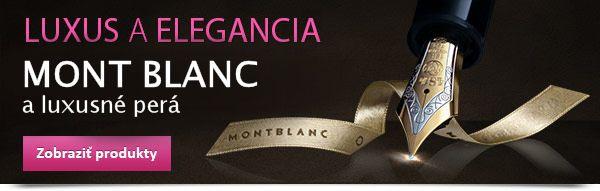 Mont Blanc perá ako luxusné darčeky